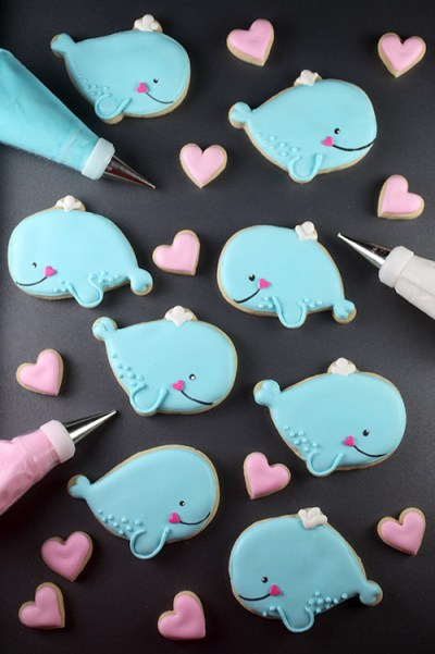 Bakerella Whale Cookies