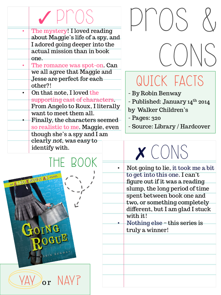 Pros and Cons Going Rogue