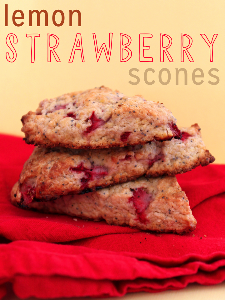 Strawberry Scones With Meyer Lemon Recipe — Dishmaps