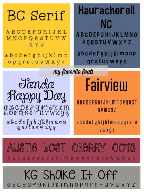 Favorite Fonts Part Seven