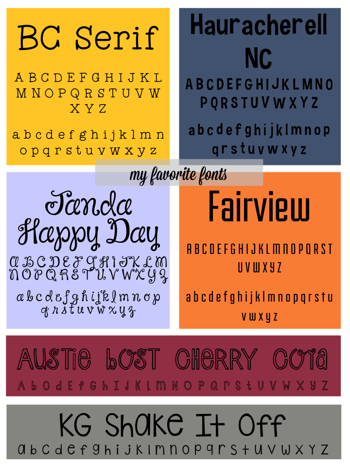 Favorite Fonts Part Seven