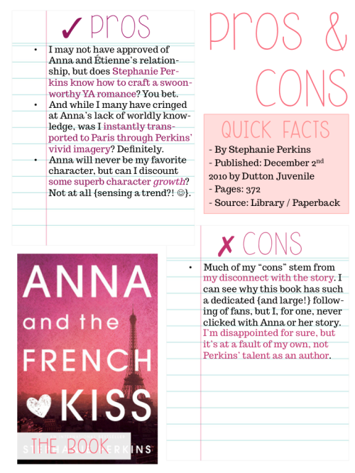 Anna and the French Kiss Pros and Cons