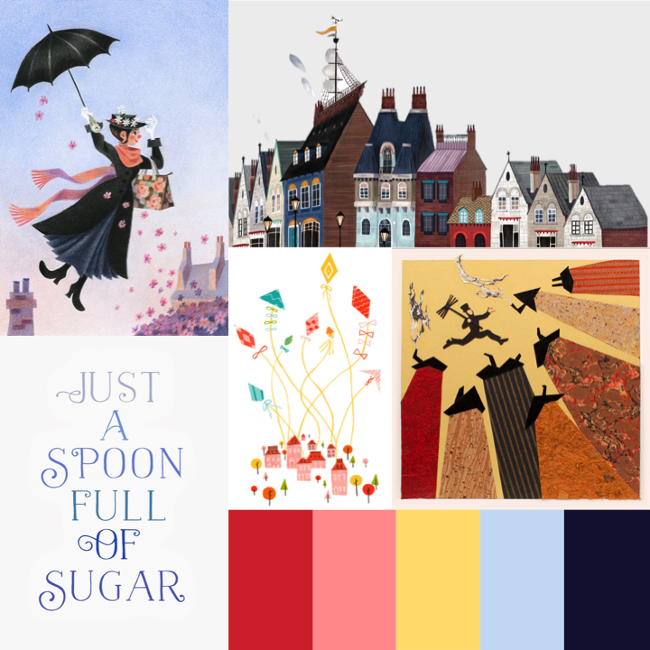 Mary Poppins Musical Moodboard