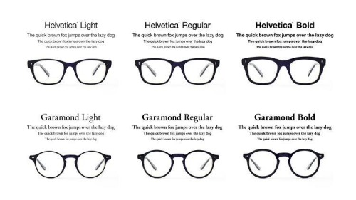 Typography Glasses