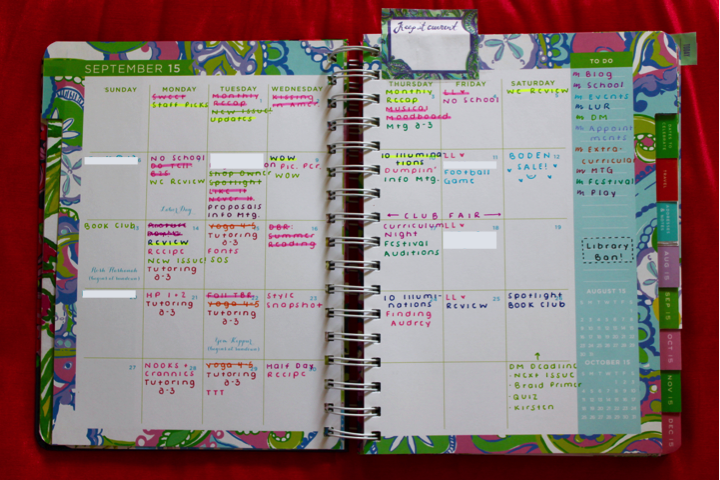 Monthly Calendar Lilly Pulitzer Planner