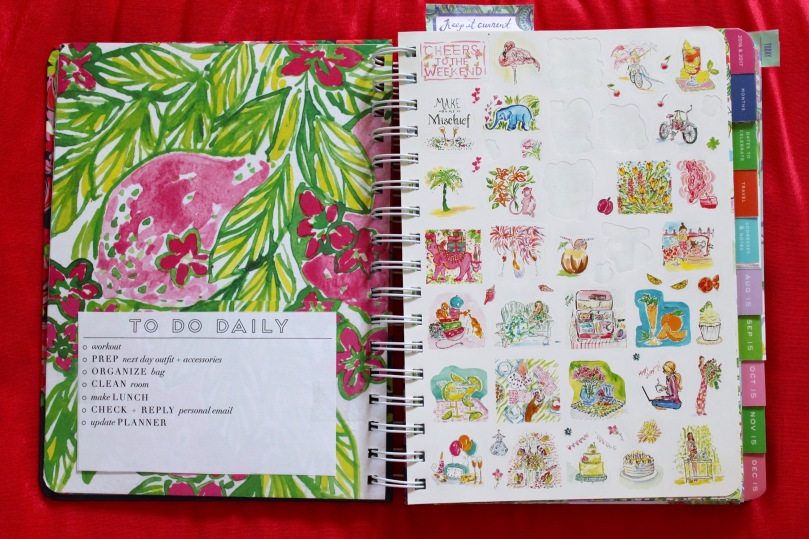 Stickers Lilly Pulitzer Planner