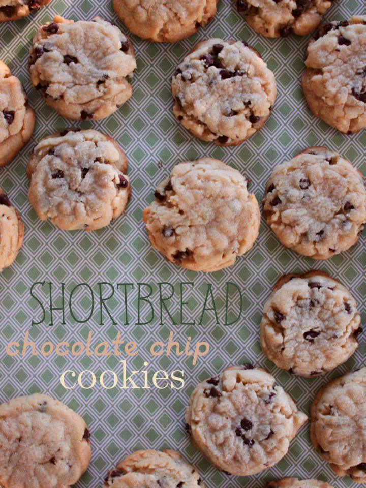 Shortbread Chocolate Chip Cookies